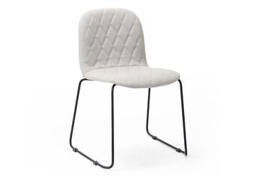 Stone + Midnight Iron Dining Chair