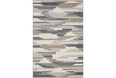 2'x3' Rug-Denim And Grey Wool Woven Patchwork