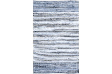 36X24 Rug-Recycled Denim Stripes
