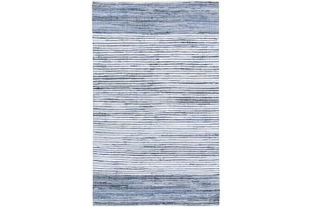 96X60 Rug-Recycled Denim Stripes