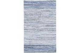 132X96 Rug-Recycled Denim Stripes
