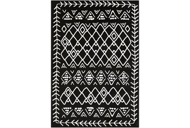 2'x3' Rug-Casimir Diamonds Black & White