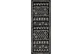 87X31 Rug-Casimir Diamonds Black & White