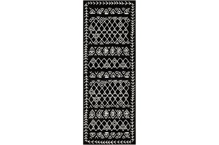 87X31 Rug-Casimir Diamonds Black & White