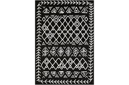 60X39 Rug-Casimir Diamonds Black & White