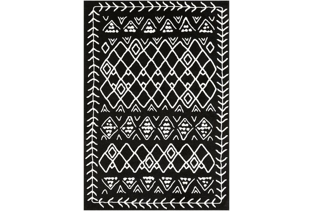 87X63 Rug-Casimir Diamonds Black & White