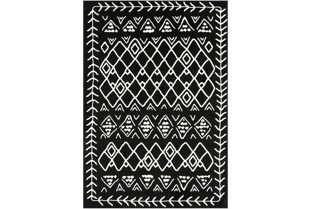 114X79 Rug-Casimir Diamonds Black & White