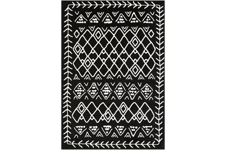 114X79 Rug-Casimir Diamonds Black & White