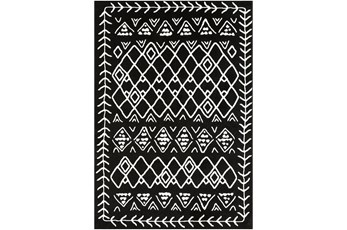 123X94 Rug-Casimir Diamonds Black & White