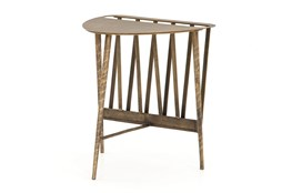 Aged Brass End Table