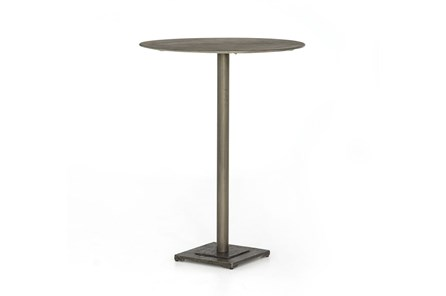 Antique Nickel Antique Etch Nickel Bar Table