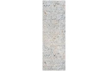 120X39 Rug-Slate & Copper Pebbles