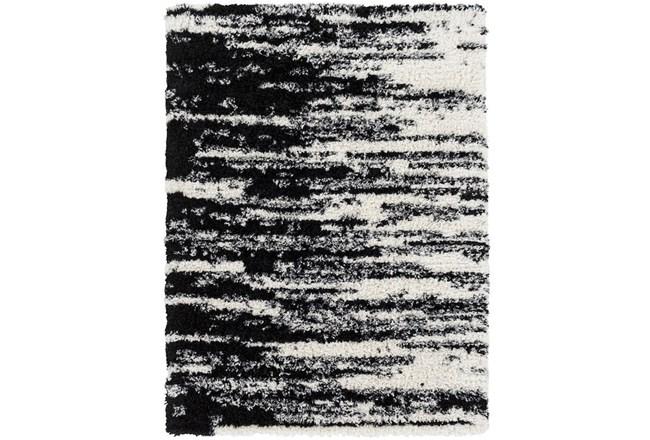 87X63 Rug-Delano Black & White Shag - 360
