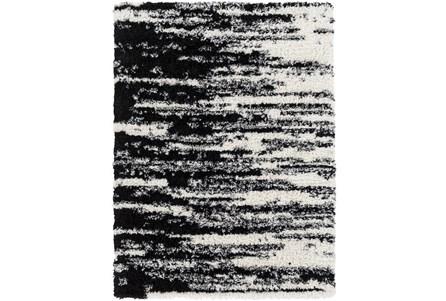 122X94 Rug-Delano Black & White Shag