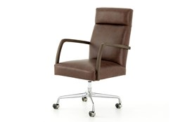 Havana Brown Burnt Oak Desk Chair