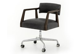 Ebony Burnt Oak Desk Chair