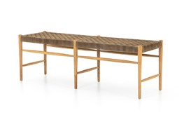 Coffee Suede Bench