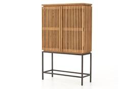 Smoked Drift Oak Corrugated Cabinet