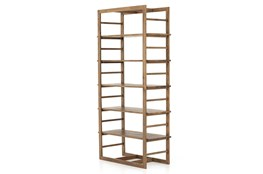 Warm Oak Gunmetal Bookshelf