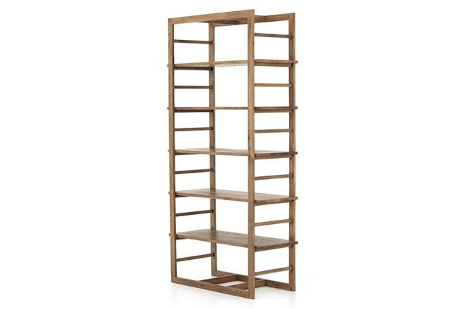 Warm Oak Gunmetal Bookshelf - 360