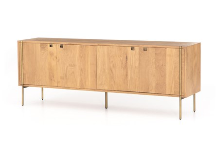 Natural Oak Satin Brass Sideboard