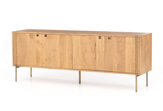 Natural Oak Satin Brass Sideboard - 360