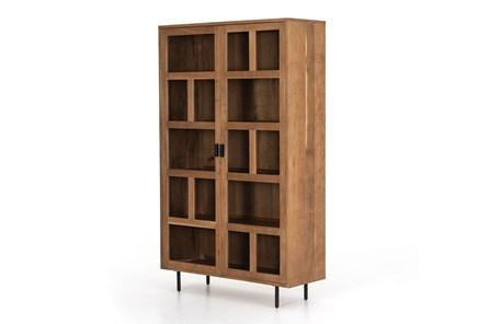 Light Smoked Oak Gunmetal Cabinet