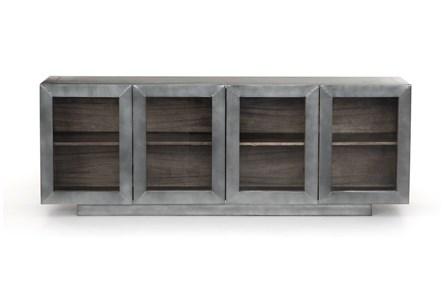 Aged Aluminum Grey Natural Media Console - Main