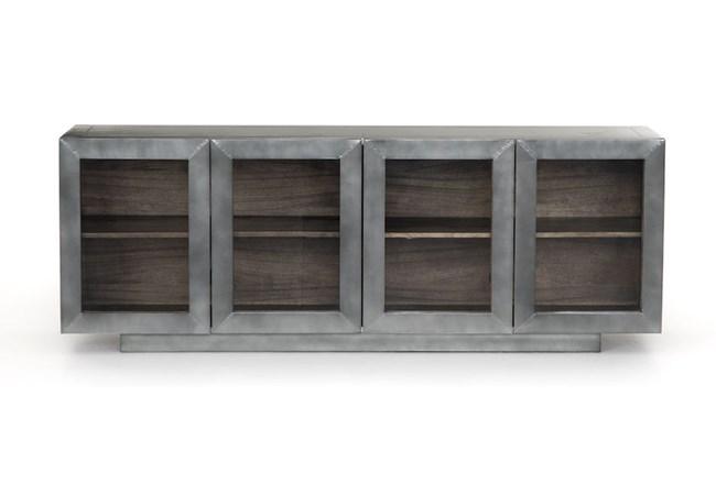 Aged Aluminum Grey Natural Media Console - 360