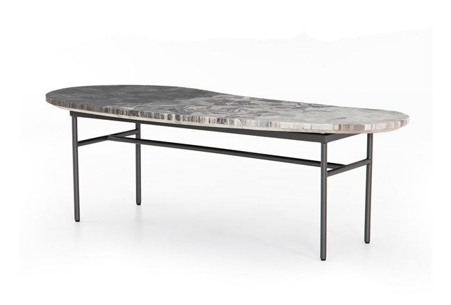 Ombre Parquet Gunmetal Coffee Table - 360