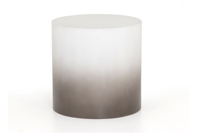 Slate Grey Ombre End Table - 360