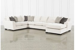 """Delano Pearl 3 Piece 169"""" Sectional With Right Arm Facing Chaise"""