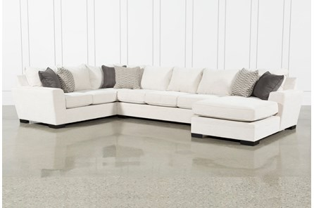 Delano Pearl 3 Piece Sectional With Right Arm Facing Chaise
