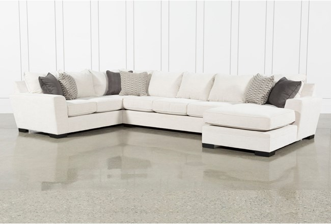 Delano Pearl 3 Piece Sectional With Right Arm Facing Chaise - 360
