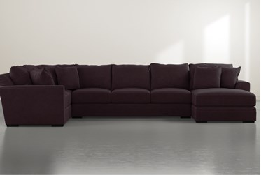 """Delano Purple 3 Piece 169"""" Sectional with Right Arm Facing Chaise"""