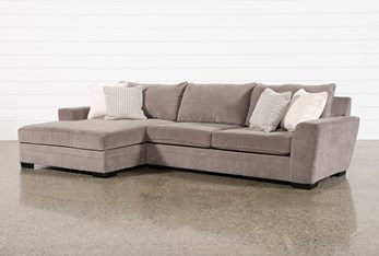 """Delano Charcoal 2 Piece 136"""" Sectional With Left Arm Facing Oversized Chaise"""