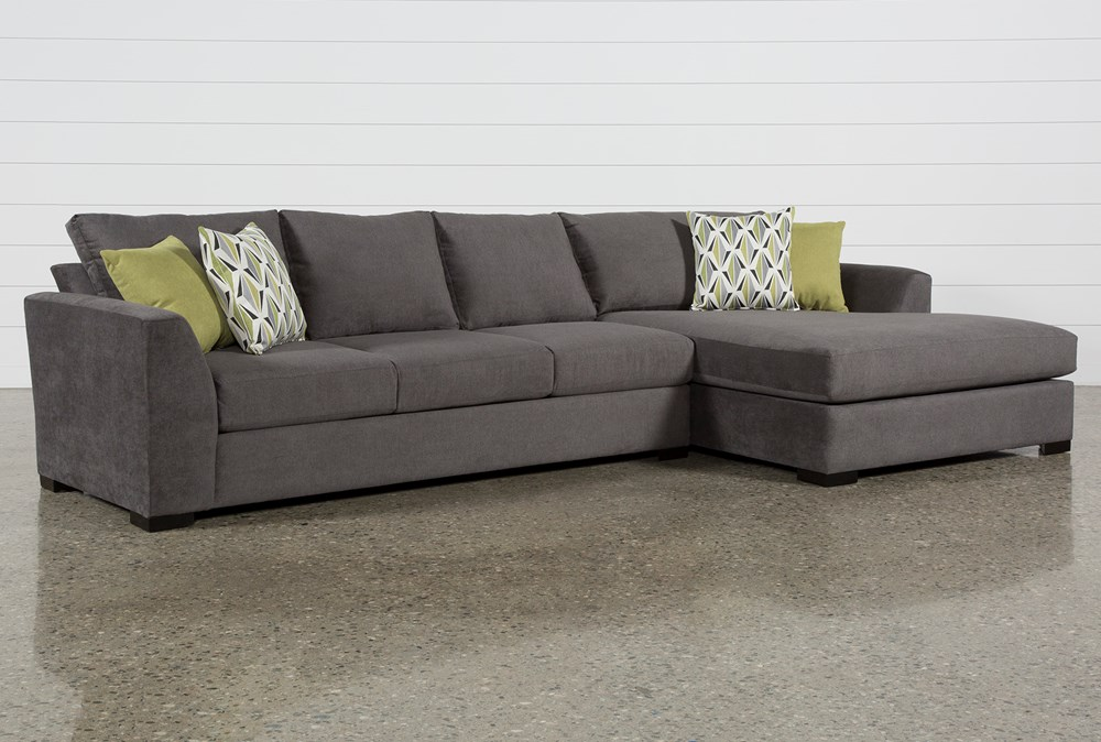 Cohen Foam II 2 Piece Sectional With Right Arm Facing Oversized Chaise