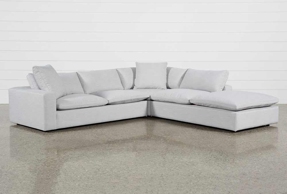 Utopia 3 Piece Sectional With Right Facing Bumper Chaise