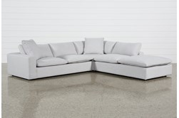 "Utopia 3 Piece 123"" Sectional With Right Facing Bumper Chaise"