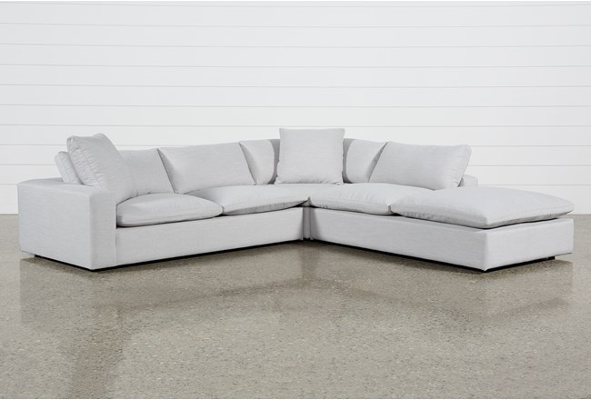 Utopia 3 Piece Sectional With Right Facing Bumper Chaise - 360