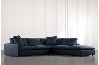 Utopia Navy Blue 3 Piece Sectional