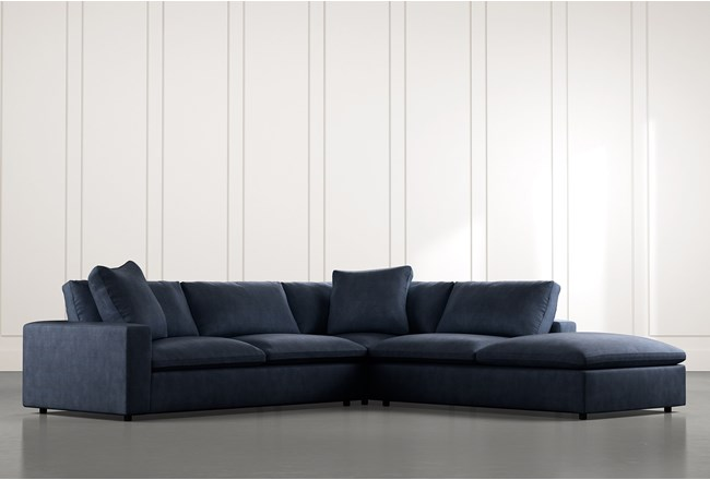 Utopia Navy Blue 3 Piece Sectional - 360