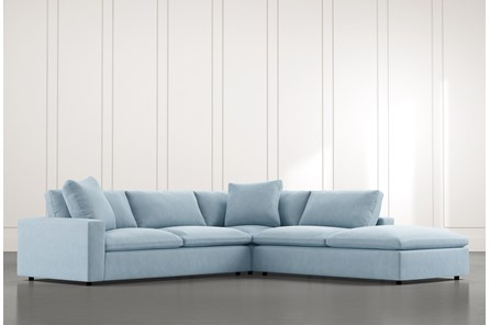 Utopia Light Blue 3 Piece Sectional