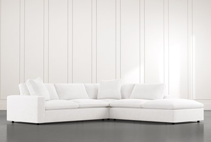 Utopia White 3 Piece Sectional | Living Spaces