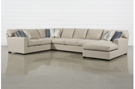 """Mercer Down II 3 Piece 161"""" Sectional With Right Arm Facing Chaise"""