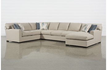 Mercer Down II 3 Piece Sectional With Right Arm Facing Chaise
