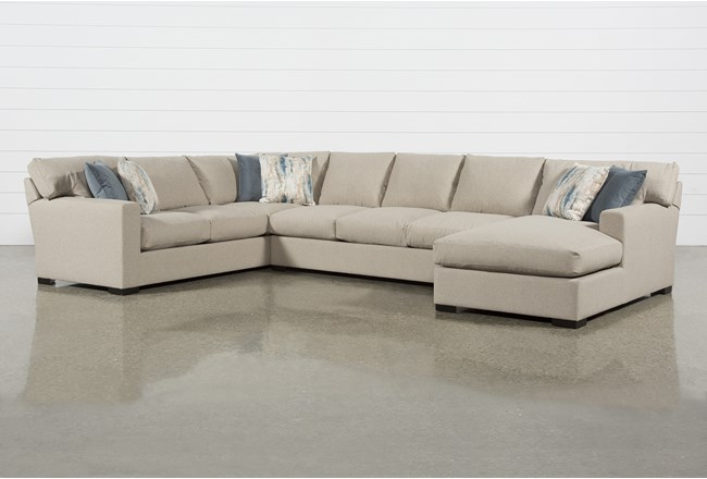 Mercer Down II 3 Piece Sectional With Right Arm Facing Chaise - 360
