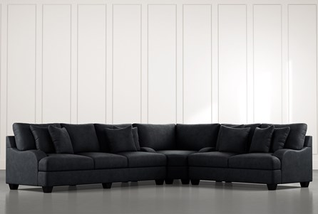 Sierra Foam III Black 3 Piece Sectional