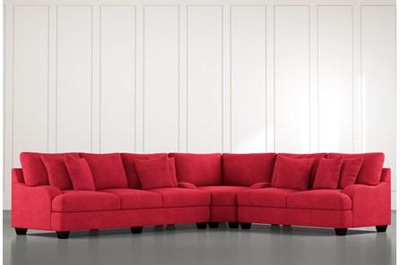 Sierra Foam III Red 3 Piece Sectional