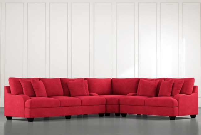 Sierra Foam III Red 3 Piece Sectional - 360